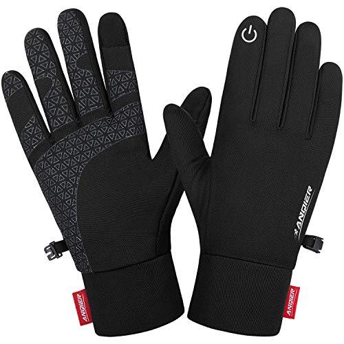 Lapulas Handschuhe Herren Damen, Handschuhe Touchscreen Dünne Outdoor Sporthandschuhe Lauf Handschuhe Plus Kaschmir Leichte rutschfest Winddichte für Fahrrad Motorrad Laufen Radfahren Wandern Fahrrad