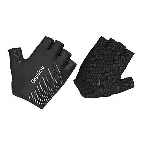 GripGrab Unisex-Adult Ride Lightweight Gepolsterter Kurzfinger Handschuh Gloves Cycling Short, Schwarz, L