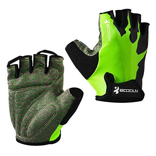 Eroilor Radsport Kurz Handschuhe Halb Finger Bike MTB Gloves Sommer Radhandschuhe für Damen/Herren – Grün – XL
