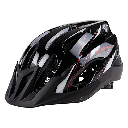 ALPINA MTB 17 Fahrradhelm, Black-White-Red, 54-58 cm