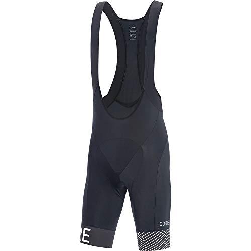 Gore Running Wear C5 Optiline Herren-Trägerhose, kurz, Schwarz/Weiß, Größe: S (Herstellergröße: S). XL schwarz / weiß