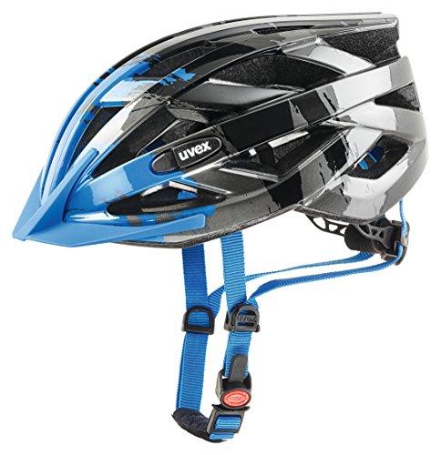 Uvex I-VO C Fahrradhelm, dark silver – blue, 56-60 cm