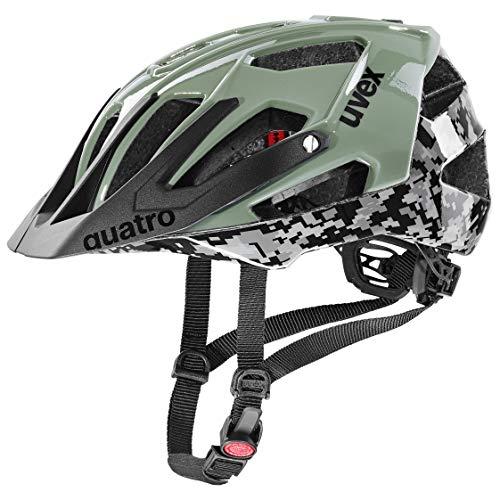 uvex Unisex– Erwachsene Quatro Fahrradhelm, pixelcamo – Olive, 56-60 cm
