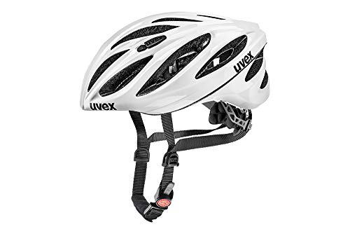 Uvex Unisex– Erwachsene, boss race Fahrradhelm, white, 55-60 cm