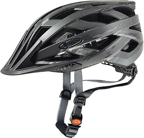 Uvex Unisex– Erwachsene i-vo cc Fahrradhelm, Black-Smoke Mat, 56-60 cm
