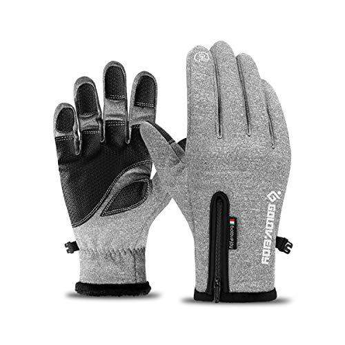 CHEREEKI Fahrradhandschuhe, Touchscreen-Handschuhe Wasserdicht & Winddicht Wärmehandschuhe rutschfest Warme Winterhandschuhe Outdoor Laufen Klettern Skifahren Handschuhe für Damen und Herren
