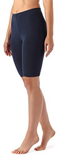 Merry Style Damen Kurze Leggings aus Viskose MS10-145 (Dunkelblau, L)