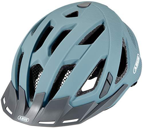 ABUS Urban-I 3.0 Stadthelm – Fahrradhelm mit Rücklicht für den Stadtverkehr – für Damen und Herren – 86896 – Hellblau, Größe L
