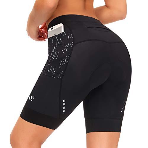 SKYSPER Radlerhose Damen Kurze Radunterhose Radfahren Shorts Fahrradhose Radsportshorts Radfahrunterhose Schnelltrocknend und elastische atmungsaktive hoher Dichte