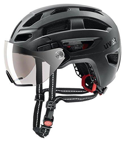 Uvex Unisex– Erwachsene, finale visor Fahrradhelm, black mat, 52-57 cm