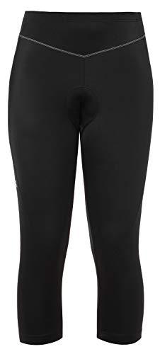 VAUDE Damen Hose Women's Active 3/4 Pants, 3/4-Radhose, funktionelles Sitzpolster, black uni, 40, 044090510400