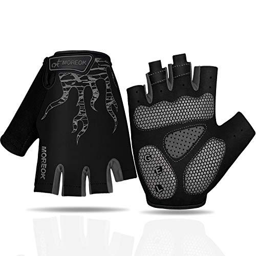 Faneam Sommer Fahrradhandschuhe Herren Halbfinger Handschuhe Fahrrad MTB SBR StossdÄmpfende Handschuhe Atmungsaktiv Radhandschuhe Damen Rutschfestes Radsporthandschuhe als Halbfinger