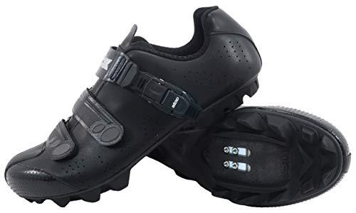 LUCK Fahrradschuhe MTB ODÍN mit Carbon-Sohle und Präzisions-Millimeter-Verschluss. (37 EU, SCHWARZ)