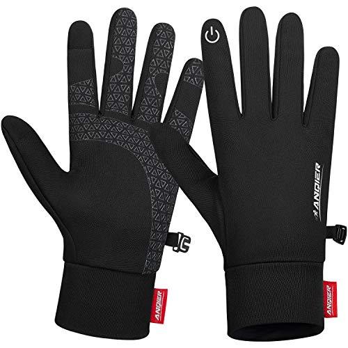 coskefy Handschuhe Herren Damen Touchscreen Laufhandschuhe Leicht rutschfest Fahrradhandschuhe Elastisch Winterhandschuhe Liner-Handschuhe zum Camping Wandern Bergsteigen Radfahren Laufen Klettern