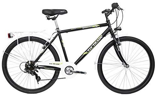 26 Zoll Kinder Jungen Herren Jugend City Fahrrad Herrenrad Kinderfahrrad Herrenfahrrad Citybike Cityrad Cityfahrrad Rad Bike Beleuchtung STVO 7 Gang Shimano Booster Schwarz Grün