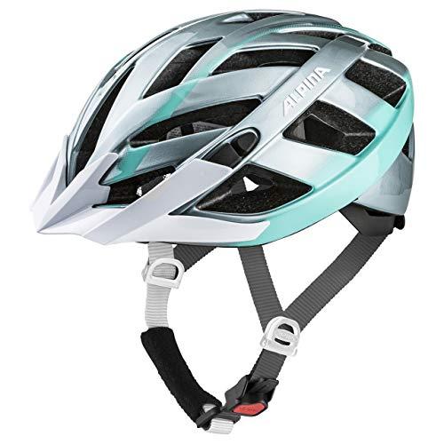 ALPINA PANOMA 2.0 Fahrradhelm, Unisex– Erwachsene, steelgrey-smaragd, 56-59