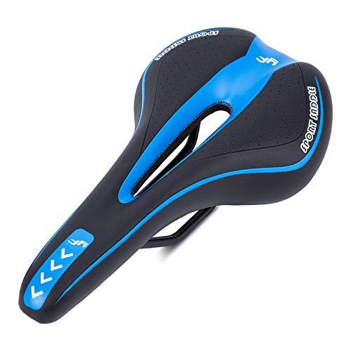 Asvert Cityrad Sättel Mountainbike Sattel Rennsattel Tourensattel Trekking Rennrad Sattel 260×170 mm (schwarz und blau, 260×170 mm)