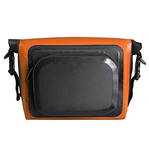 YUHUA Fahrradrahmentasche 8 Zoll Verstellbarer Riemen Outdoor Wasserdicht Verschleißfest Mehrzweck-PVC Fahrradtasche mit Großer Kapazität,Orange