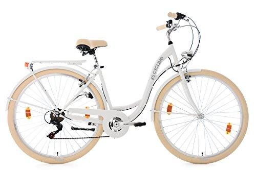KS Cycling Damenfahrrad 28'' Balloon weiß RH48cm