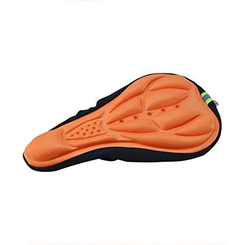 Sattelbezug Sattelbezüge Generisches Fahrradsattel Überzug Radfahren Weiche Gel-Kissen-Abdeckung Fahrrad Mountainbike Sattel Sitzpolster Schutzhülle (Orange)