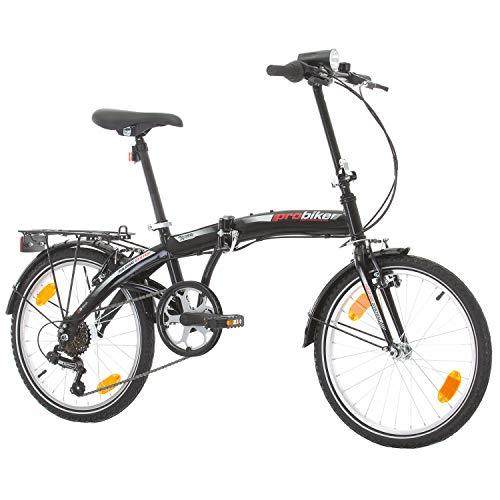 Multibrand PROBIKE Folding 20 Zoll Klapprad, Faltrad, Shimano 6 Gang, Herren-Fahrrad & Jungen-Fahrrad, Schutzbleche, geeignet ab 155 cm – 185 cm