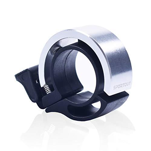 Sportout Mini Aluminiumlegierung Innovative Fahrradklingel Fahrrad Ring mit Lauten Klaren Klaren Kla … (Silver)