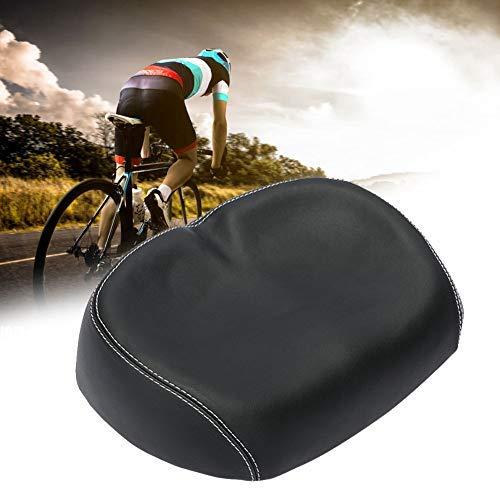 Amusingtao Breiter Fahrradsattel Pu Wasserdichter Fahrradsitz Ohne Nase Big Butt Sattel Komfortables Und Atmungsaktives Elastisches Mountainbike-Sitzkissen