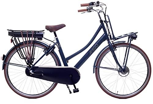 Amigo E-Pulse – Elektrofahrrad für Damen – E-Bike 28 Zoll – Damenfahrrad mit Shimano 3-Gang – Nabenschaltung – 250W und 13Ah, 36V Li-ion-Akku – Blau