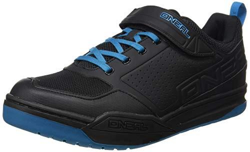 O'NEAL | Mountainbike-Schuhe | MTB Downhill Freeride | Vegan | SPD-Pedalplatten-kompatibel, haltbares und leichtes PU, Belüftungsöffnungen | Flow SPD Shoe | Erwachsene | Schwarz Blau | Größe 38