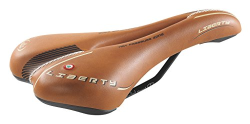 Cicli Bonin-Unisex Monte Grappa MTB Liberty Cuoio Sattel, Leder, One Size