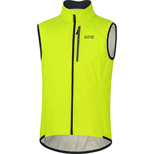 GORE WEAR Herren Fahrrad-Weste Spirit, GORE-TEX INFINIUM, M, Neon-Gelb