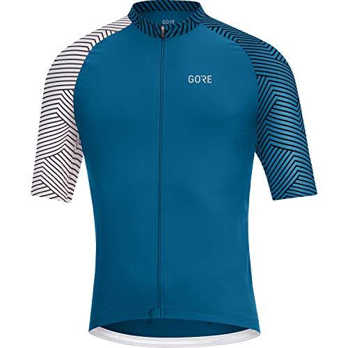 GORE WEAR Herren Fahrrad-Kurzarmtrikot, C5, M, Kobaltblau/Weiß