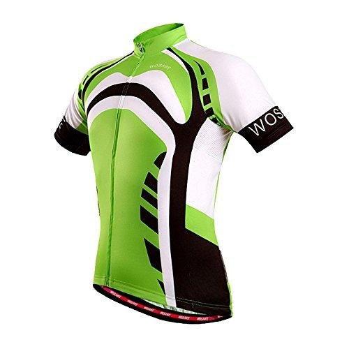 Fitsund Fahrradshirt Herren Fahrrad Trikots Schnell Trocknend Sommer Radtrikot (XL, Grün)