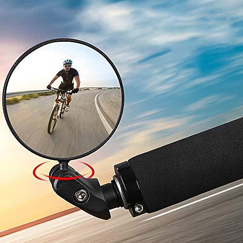 JahyElec Fahrradspiegel Rückspiegel 2 Stücke,360°Drehbar Lenkerspiegel Weitwinkelobjektiv,für 17.4-22 mm Lenker Universal Radfahren Fahrrad, Mountainbike, Rennräder