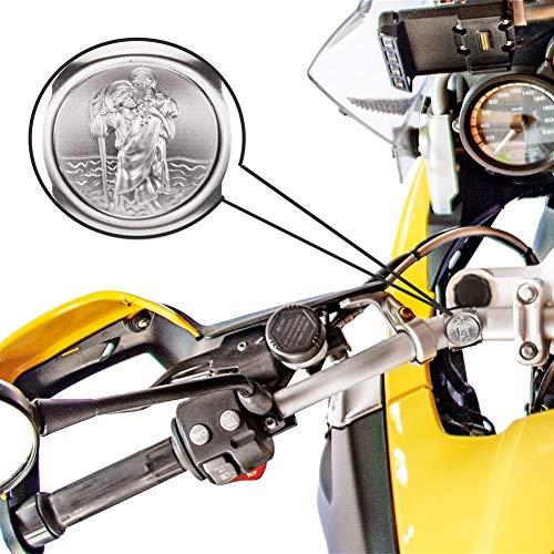Fritz Cox® – Mein Schutzengel auf Zwei Rädern für jedes Fahrrad geeignet; in Geschenk-Verpackung; Geeignet für Kinder, Frauen & Männer (St. Christopher – protecteur Pour vélo et Moto)