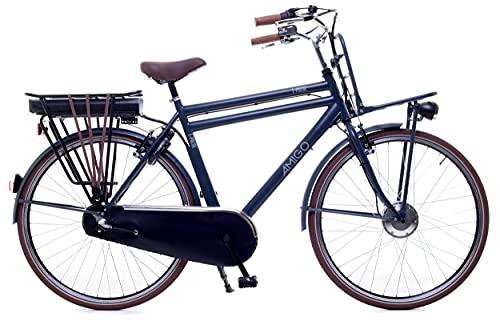 Amigo E-Pulse – Elektrofahrrad für Herren – E-Bike 28 Zoll – Herrenfahrrad mit Shimano 3-Gang – Nabenschaltung – 250W und 13Ah, 36V Li-ion-Akku – Blau