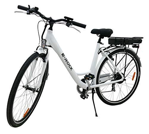 Elektrofahrrad, E-Bike EX1, 250 Watt, 25 km/h, 27,5 Zoll, 36V/10Ah Lithium-Ionen-Akku Trekking Pedelec, Weiß